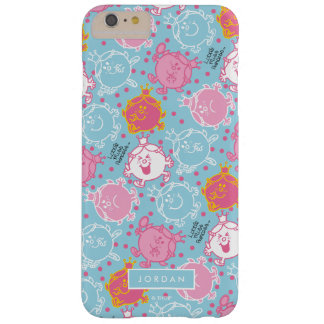 Little Miss Princess | Pretty Pink & Blue Pattern Barely There iPhone 6 Plus Case