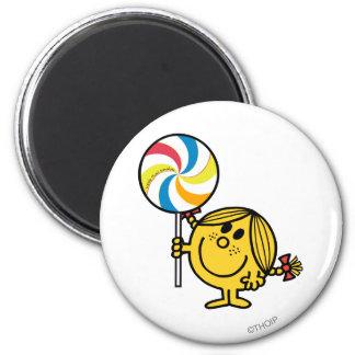 Little Miss Sunshine   Giant Lollipop 6 Cm Round Magnet