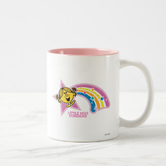 Little Miss Sunshine | Rainbows & Stars Two-Tone Coffee Mug