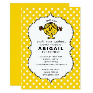 Little Miss Sunshine | Yellow Birthday Card
