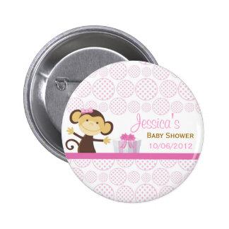 Little Monkey Baby Shower 6 Cm Round Badge