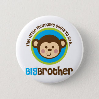 Little Monkey Going To Be A Big Brother 6 Cm Round Badge
