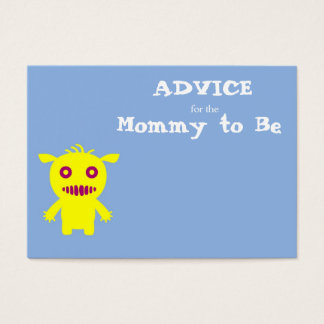 Little Monsters Advice for the Mommy to Be Cards