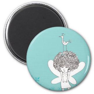 Little muse 6 cm round magnet