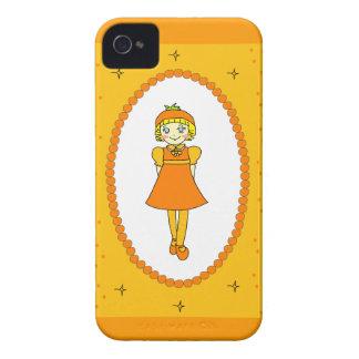 Little Orange Fruit Girl Case-Mate iPhone 4 Cases