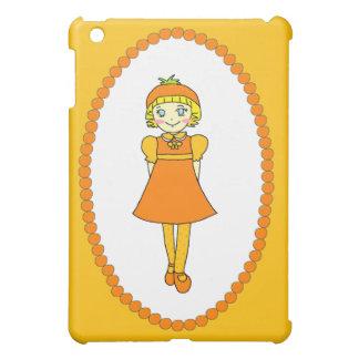 Little Orange Fruit Girl iPad Mini Case