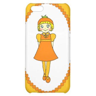 Little Orange Fruit Girl Cover For iPhone 5C
