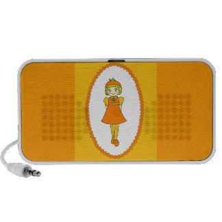 Little Orange Fruit Girl Speaker