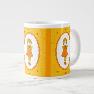 Little Orange Fruit Girl Extra Large Mug
