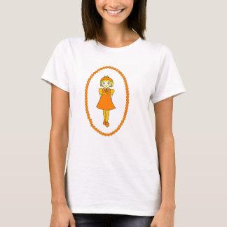 Little Orange Fruit Girl T-Shirt