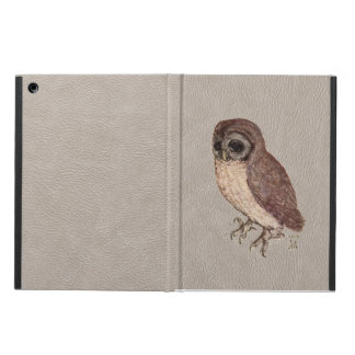 Little Owl iPad Case in Faux White Leather
