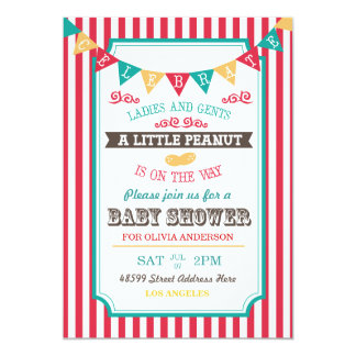 Little Peanut Circus Baby Shower Invite