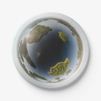 Little planet lake paper plate
