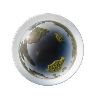 Little planet lake plate
