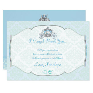 Little Prince, Victorian Style Thank You Cards 9 Cm X 13 Cm Invitation Card
