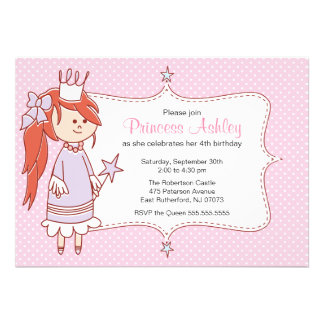 Little Princess Invitation - Pink