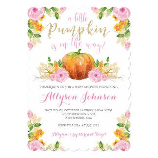 Little Pumpkin Baby Shower Invitation