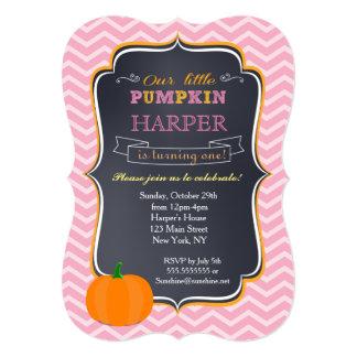Little Pumpkin Birthday Invitations