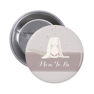 Little rabbit Baby Shower Button III