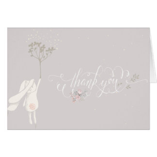 Little Rabbit Baby Shower Thank You Note Greeting Card