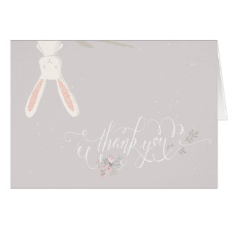 Little Rabbit Baby Shower Thank You Note II Greeting Card