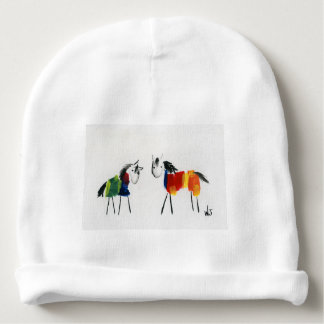 Little Rainbow Ponies Baby Beanie