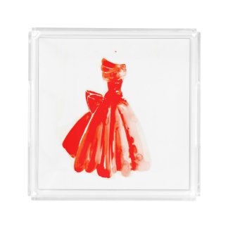 Little red Dress Perfume Tray.