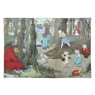 Little Red Riding Hood: End Pages Placemat