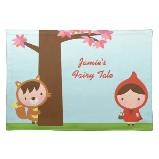 Little Red Riding Hood Fairytale for Girls Placemat