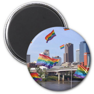 Little Rock Flying Pride Magnet