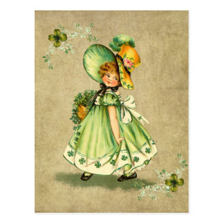 Little Saint Patty's Day Girl- Postcard