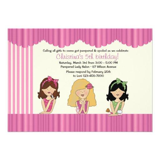 Little Salon Beauties Spa Invitation