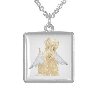 Little Scottie Angel Sterling Silver Necklace