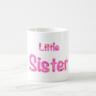 Little Sister Typography Basic White Mug