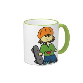 Little Skater Girl #3 Ringer Mug