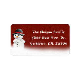 Little Snowman Address Label