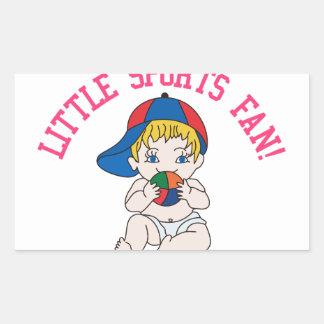 Little Sports Fan! Rectangular Sticker