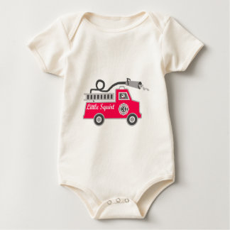 Little Squirt Firetruck for Boy Baby Bodysuit