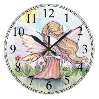 Little Star Fairy Cute Girls Clock