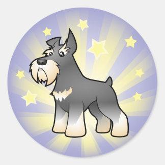 Little Star Schnauzer Round Sticker