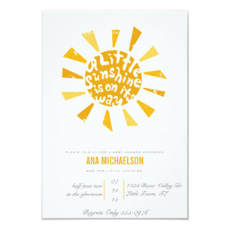 Browse Zazzle's Sunshine Baby Shower Invitations Collection and personalise by colour, design, or style.