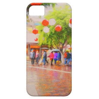 Little Tokyo Japanese village Painting iPhone 5 Cover