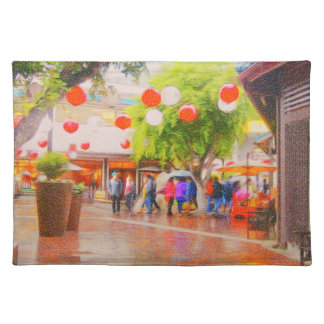 Little Tokyo Japanese village Painting Placemat