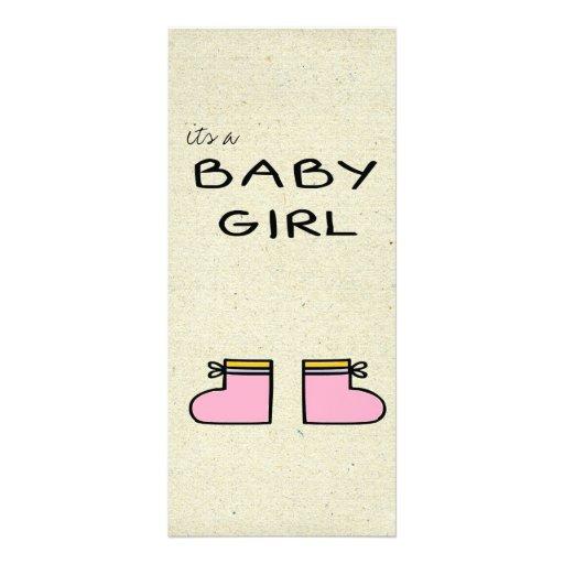 little wobblies baby announcement custom rack card