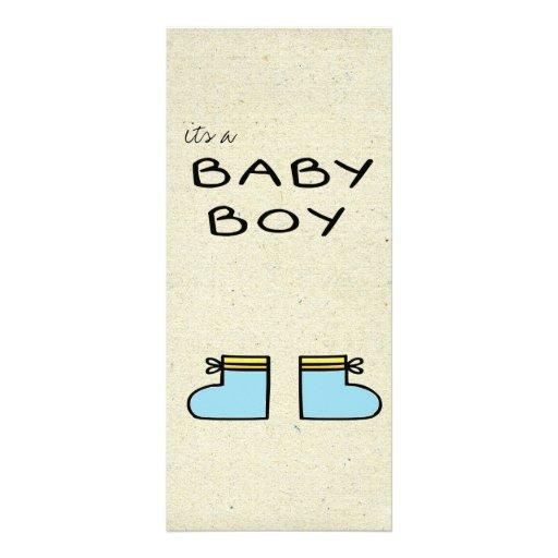 little wobblies baby announcement customized rack card