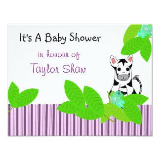 Little Zebra Baby Shower Invitation