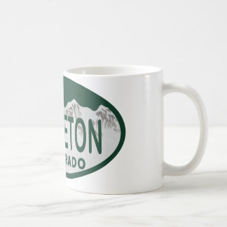 Littleton license oval coffee mug