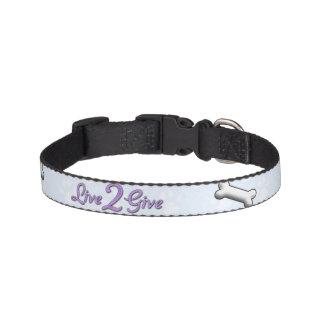 Live 2 Give SM Collar - Blue Pet Collars