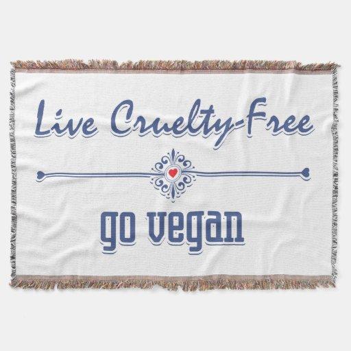 Live Cruelty Free, Go Vegan Throw