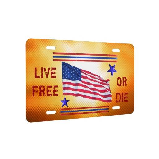 Live Free Or Die License Plate
